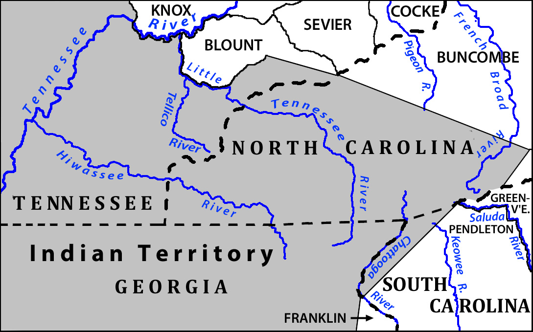 Map of Indian Territory